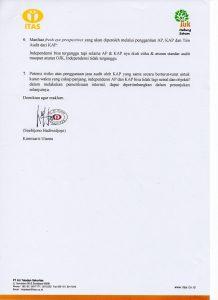 Rekomendasi Penunjukan Auditor 2017 2